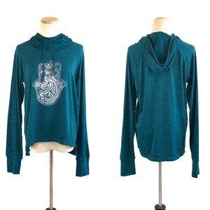 Gaiam graphic print hoodie